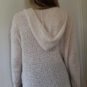 American Eagle Outfitters Sweaters - Cozy Cream Pullover with Hood